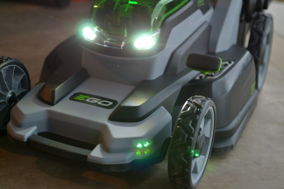 Led Lights For Lawn Tractor : Ego power mower review cut the grass gas going dad