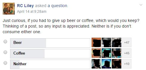 Beer vs Coffee-Dad Bloggers Poll