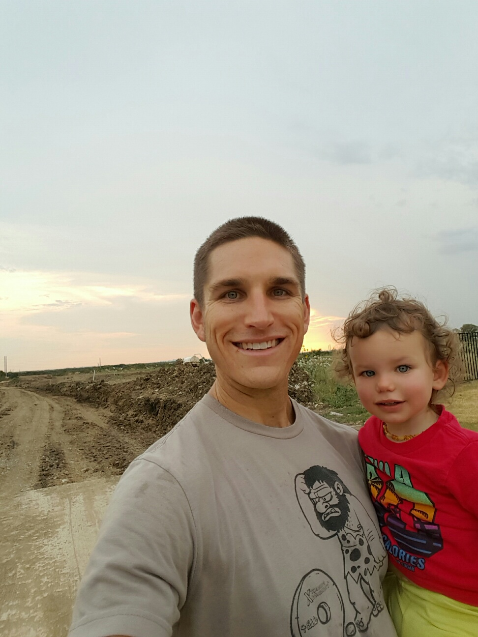 Avery & Daddy Sunset Selfie