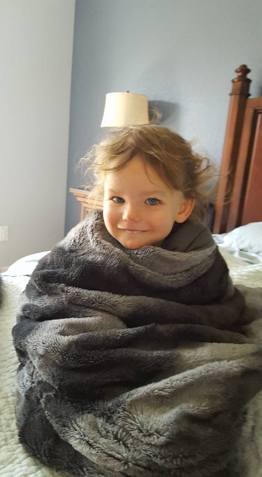 Avery in blanket