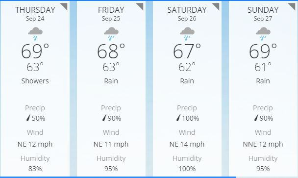 Raleigh Forecast