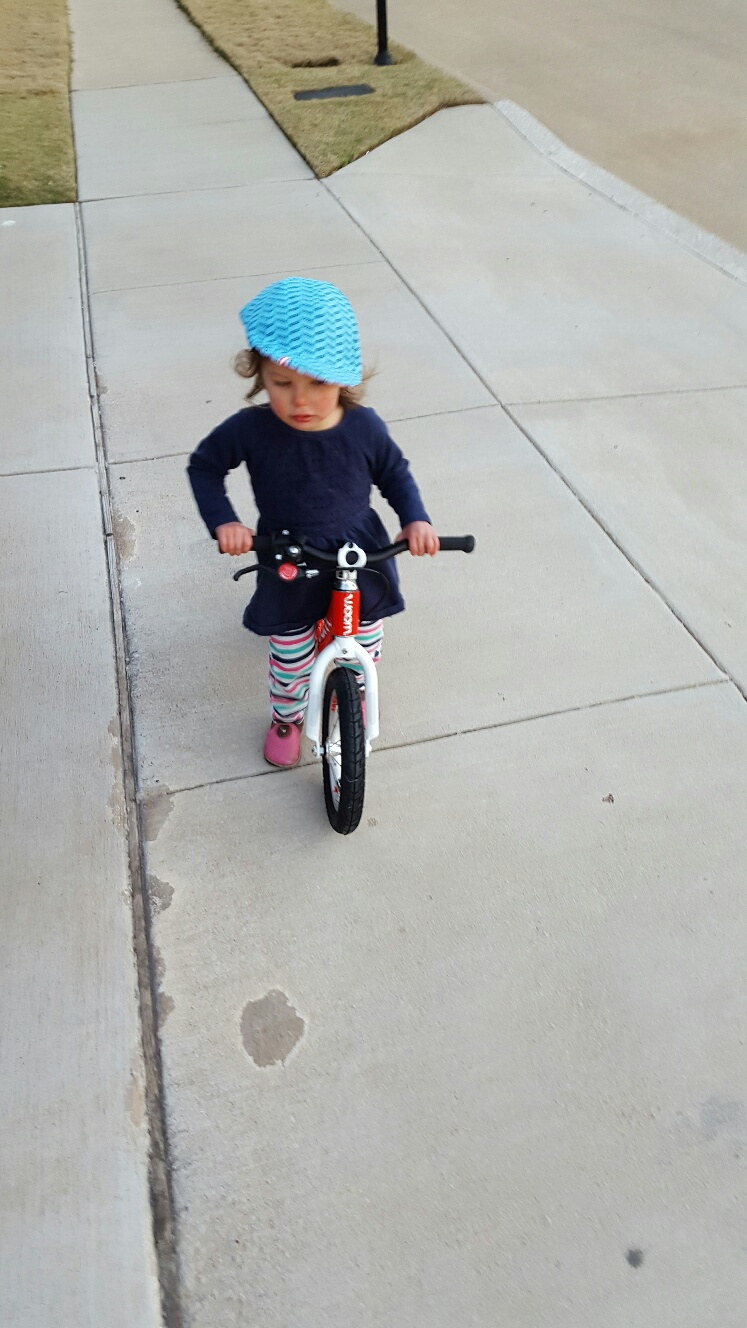 Riding WOOM 1 Balance Bike