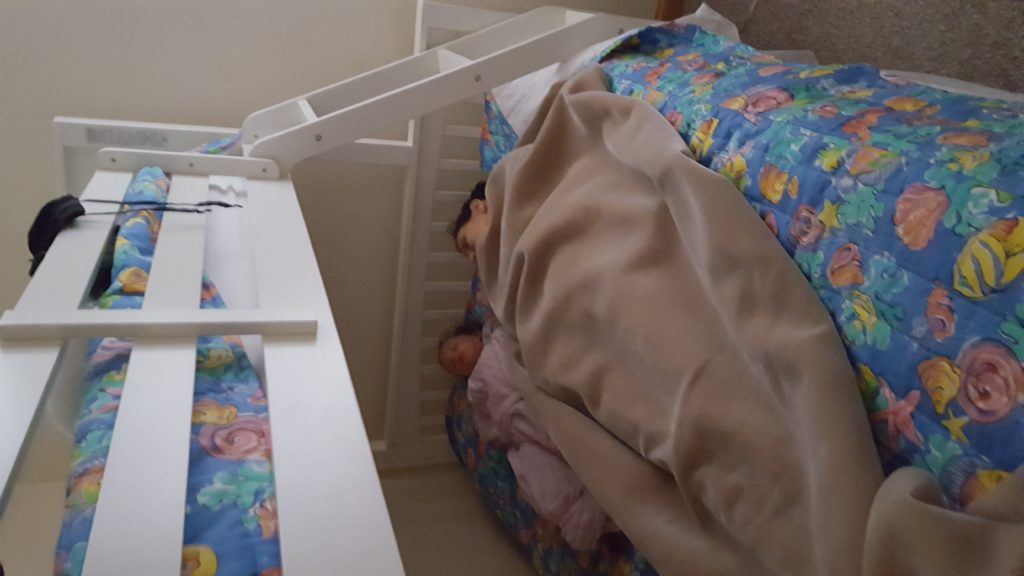 Avery and G-Ma Bottom Bunk