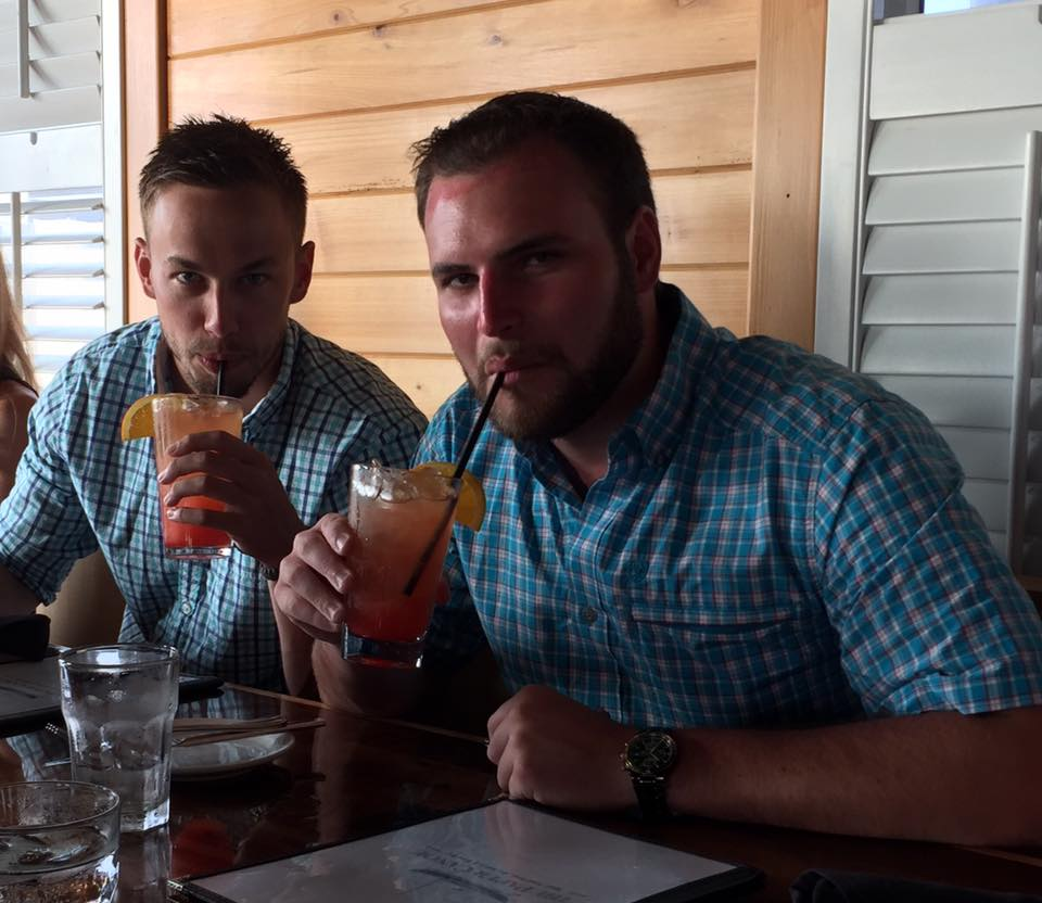 The Paper Canoe_Aaron and Preston drinking Mai Tais