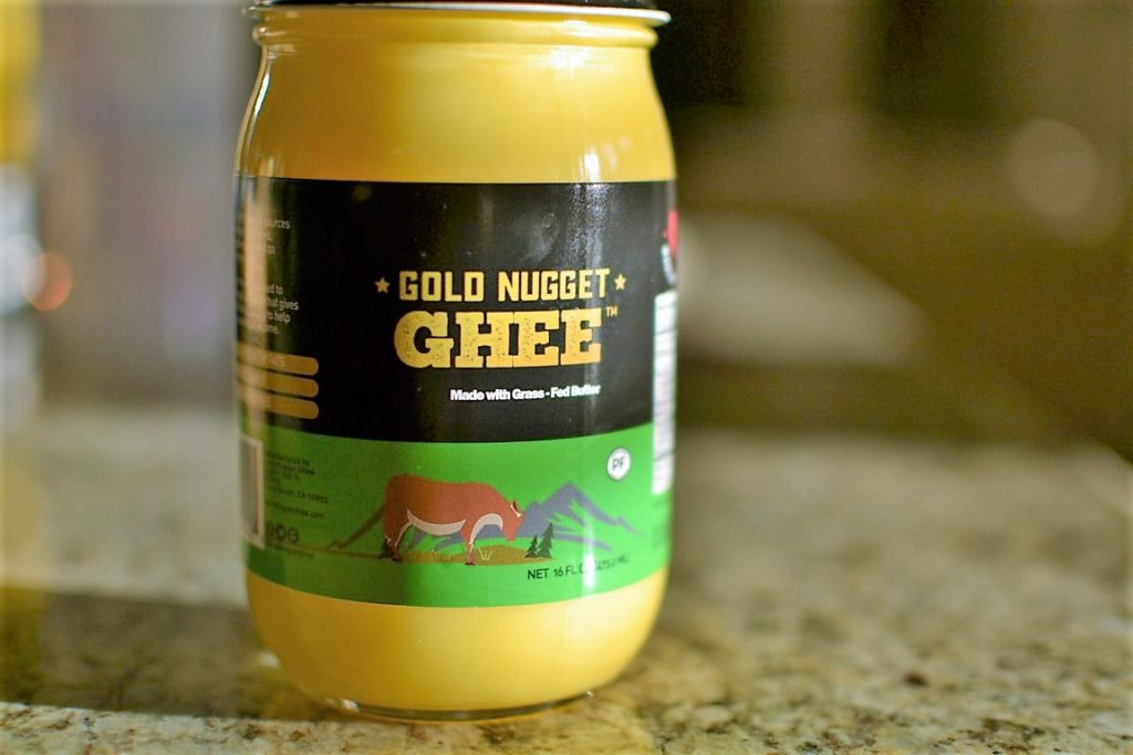 gold nugget ghee, healthy fat, cooking, review, bulletproof coffee