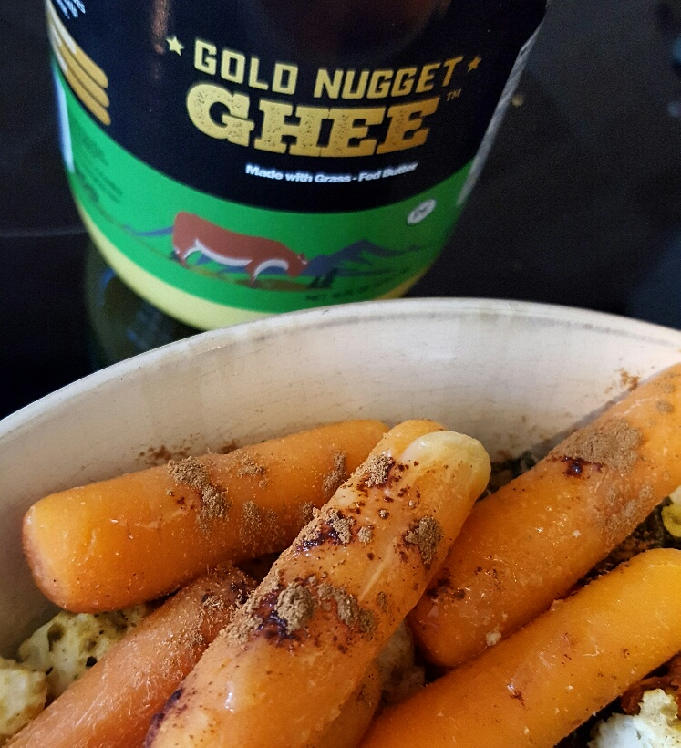 Gold Nugget Ghee with Cinnamon Roasted Carrots