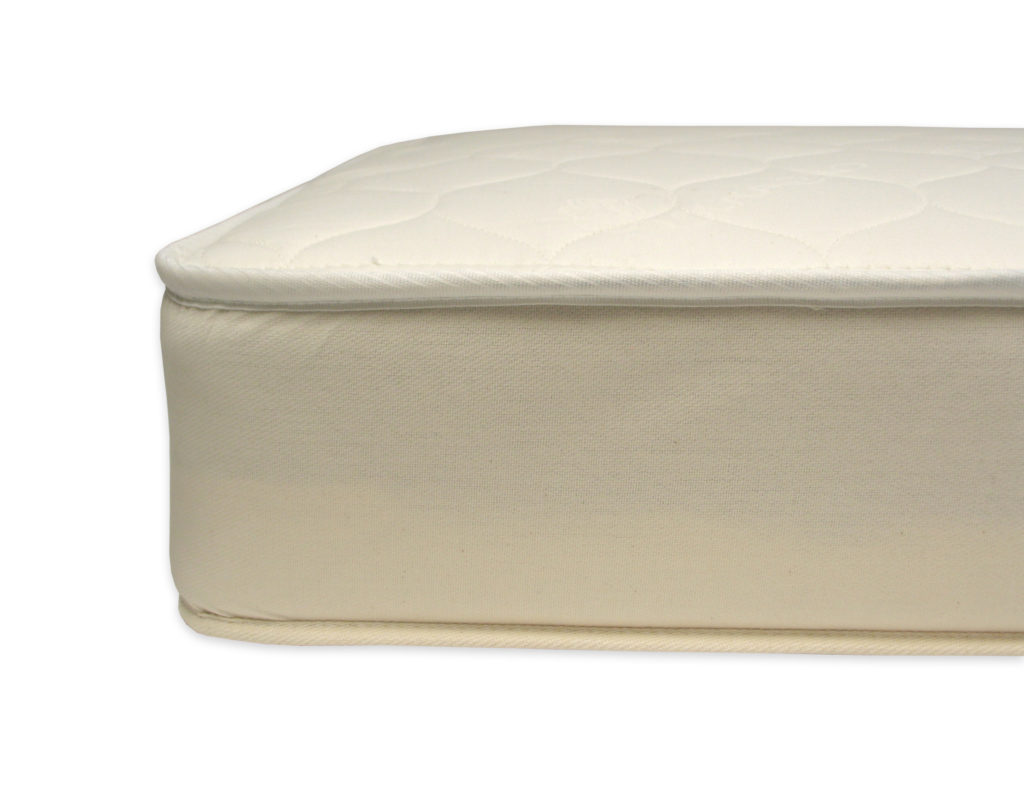 Naturepedic 2 in 1 Organic Cotton Kids' Mattress Trad Seam Detail 1 180dpi