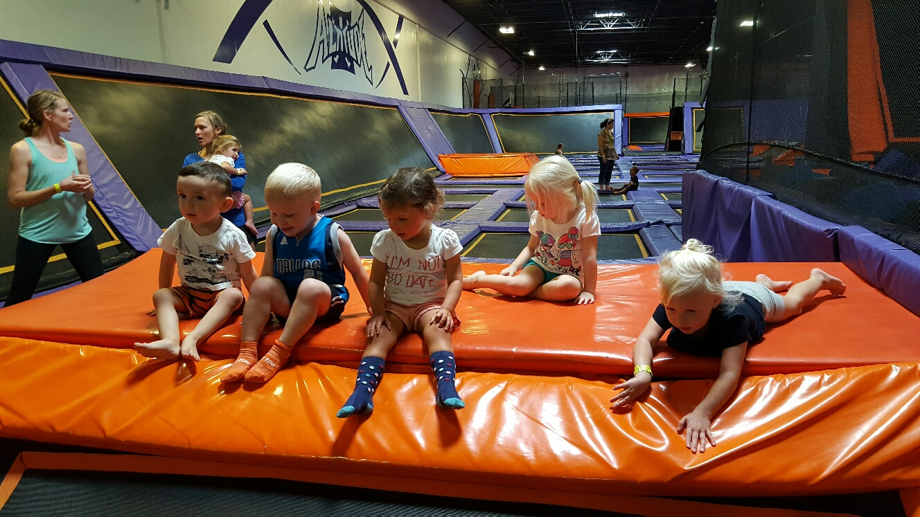 altitude trampoline park, toddler, parenting, jumping, kids, friends