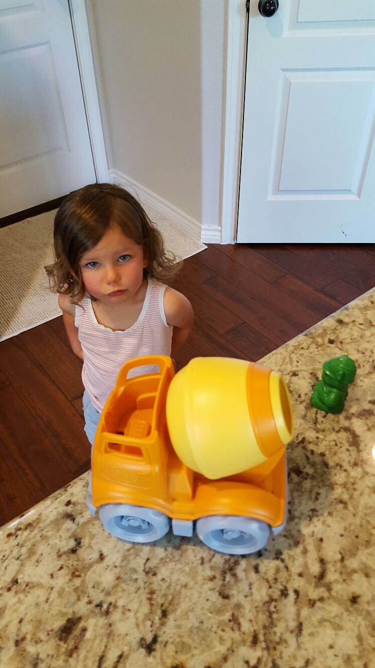 green toys, cement mixer, recycled toys, eco-friendly
