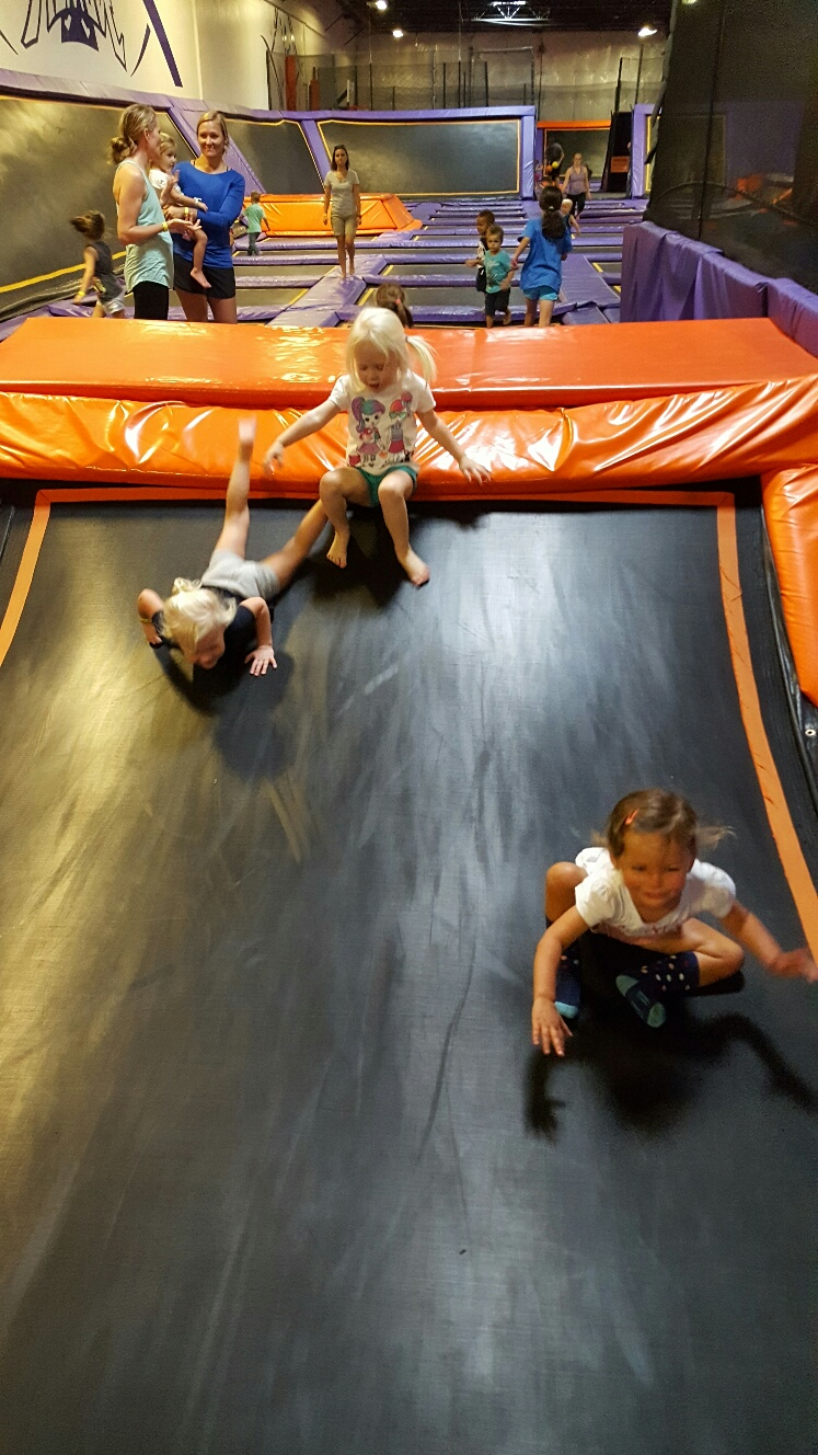 Trampoline Belly Slides