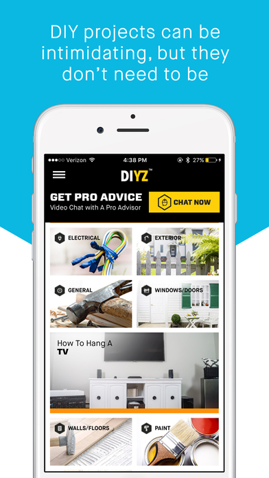 DIYZ, mobile app, diy, home improvement, #DIYZ, #GetWise