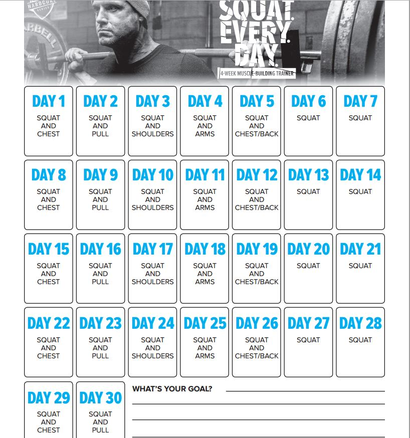 squat workout program | Sport Fatare